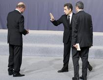 Basescu, Sarkozy si Berlusconi, la Lisabona