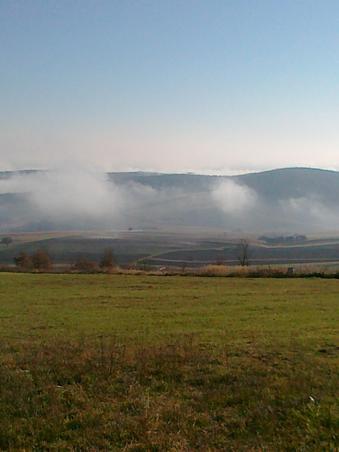 O usora ceata se ridica  ca o plapuma!