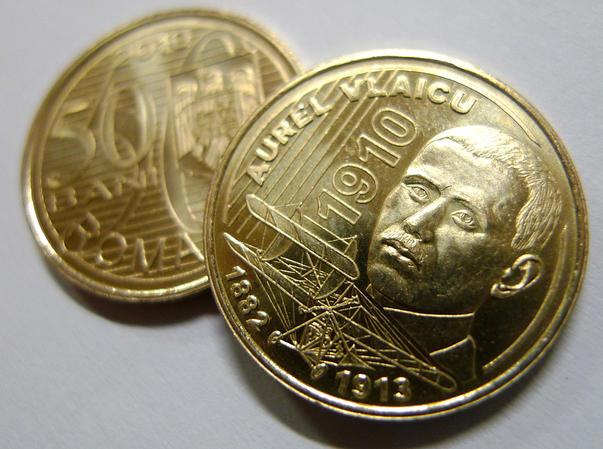 Moneda aniversara de 50 bani