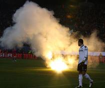Fumigene la meciul cu Steaua - Utrecht