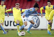 Steaua in meciul contra lui Napoli