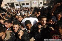 Funeraliile militantilor palestinieni ucisi de armata israeliana