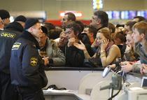 Pasageri nemultumiti, pe aeroportul Domodedovo