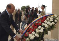 Traian Basescu - depunere coroana de flori