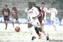 Meci din Liga 1 disputat pe zapada