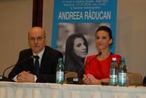 Andreea Raducan , alaturi de Octavian Bellu