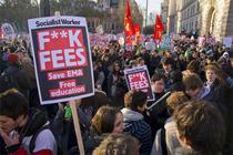 Proteste ale studentilor la Londra