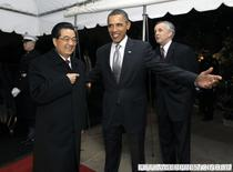 Presedintii chinez si american, la Casa Alba