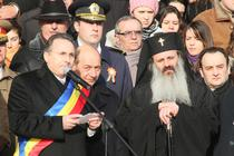 Traian Basescu, huiduit la Iasi