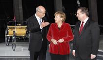 Angela Merkel, la ceremonia de la Stuttgart