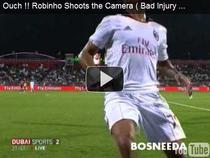 Robinho, victima unei camere tv