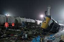 Scena accidentului feroviar din Germania