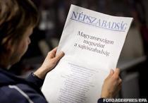 Protest pe prima pagina a Nepszabadsag, 3 ianuarie