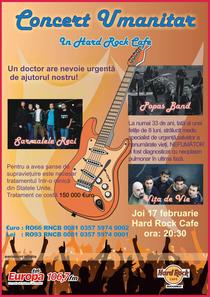 Afisul concertului