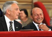 Mugur Isarescu si Traian Basescu