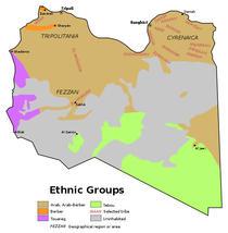 Harta celor mai influente triburi din Libia