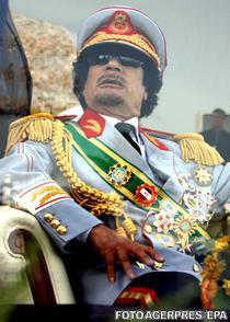 Muammar Gaddafi la aniversarea a 40 de ani de la Revolutia Libiana, septembrie 2009