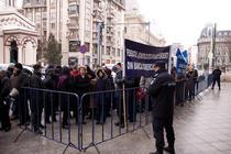 Protestul angajatilor BCR