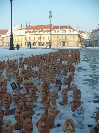 2011-Marea demonstratie din centrul orasului Sibiu