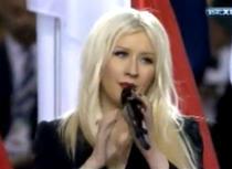 Christina Aguilera greseste imnul SUA
