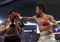 Pacquiao (dreapta), invins prin KO de Marquez