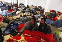 Tabara de refugiati in Tunisia