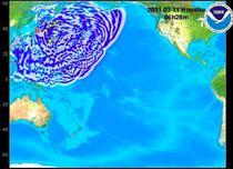Modul in care se va propaga tsunami-ul in Oceanul Pacific