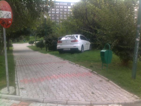 parcare in parcul de langa Sala Palatului