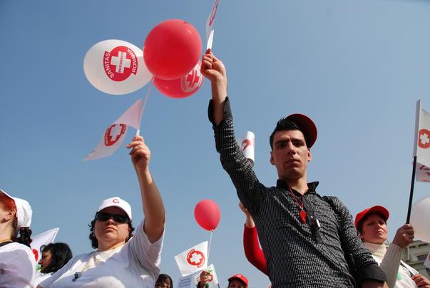 Protestatarii veniti din toate colturile tarii pentru a-si exprima nemultumirile. (2)
