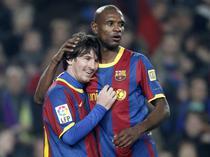 Eric Abidal, alaturi de Lionel Messi