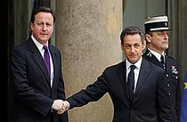 Nicolas Sarkozy si David Cameron la Palatul Elysee