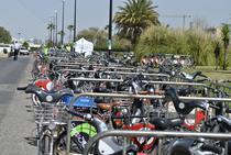 Parcarea pentru biciclete de la conferinta Velo City 2011