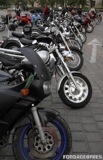 parada de motociclete