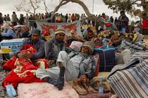 Tabara de refugiati langa frontiera cu Tunisia