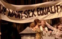 Protest pentru egalitatea in drepturi