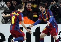 Bucuria golului: Messi deschide scorul contra lui Arsenal!
