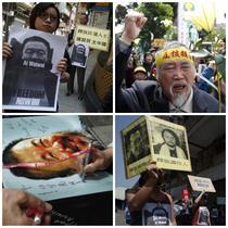 Proteste ale activistilor chinezi