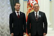 Dumitru Prunariu si Dmitri Medvedev