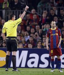 Andres Iniesta, sanctionat in meciul tur cu Sahtior