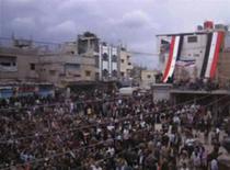 Proteste anti-guvernamentale in orasul sirian Jasim, luna aprilie