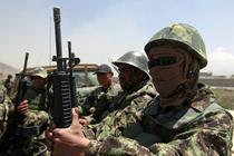 Soldati afgani, la locul incidentului