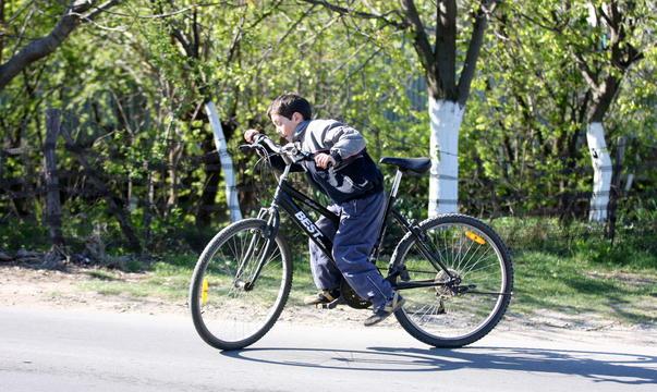 Am bicicleta