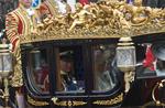 Trasura cu Printul Charles si Camilla