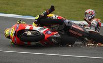 Incident intre Rossi si Stoner la Jerez