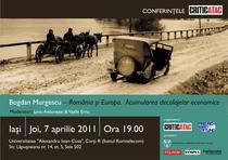 Conferinta Bogdan Murgescu - Iasi, 7 aprilie