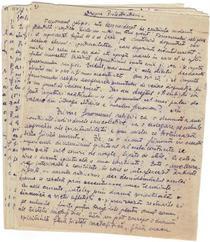 Despre protestantism - manuscris al lui Cioran