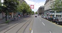 O strada centrala din Zurich