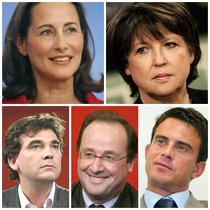 Segolene Royal, Martine Aubry, Arnaud Montebourg, Francois Hollande si Manuel Valls