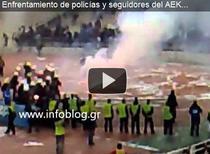 Incidente pe stadioanele din Grecia