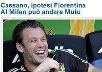 Cassano-Mutu, posibil schimb intre Milan si Fiorentina